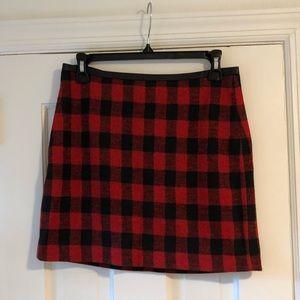 Madewell Skirts - Madewell Red & Black Buffalo Plaid Mini Skirt